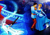 Cinderella and Prince Online Coloring Page