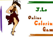 Jennifer Lopez Online Coloring Game