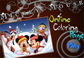 Mickey Mouse Online Coloring Page