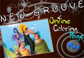 New Groove Online Coloring Page