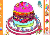 Online Coloring Hamburger