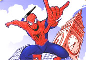 Spiderman Flying Coloring Game