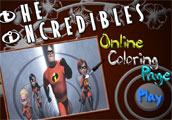 The Incredibles Online Coloing Page